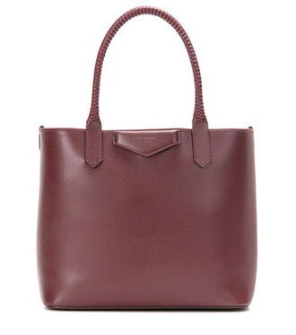leather red bag