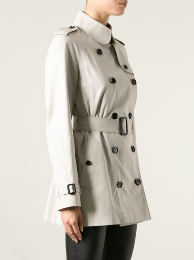 Burberry London Double Breasted Trench Coat -  - Farfetch.com