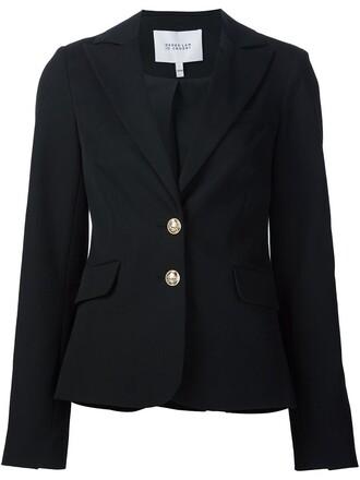blazer women spandex cotton blue jacket