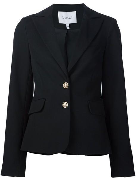 DEREK LAM 10 CROSBY blazer women spandex cotton blue jacket