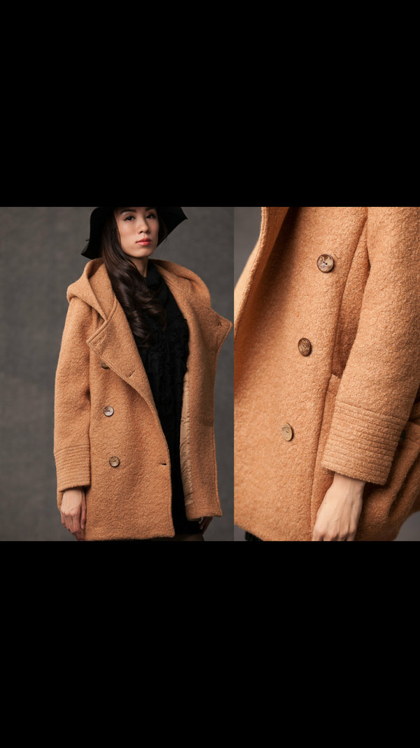 pea coat fall outfits winter outfits vintage clothes brown