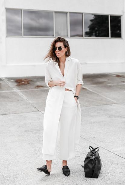 modern legacy blogger sunglasses white minimalist