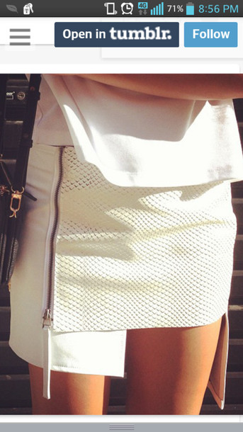 skirt white skirt white skirt knitted skirt mini skirt
