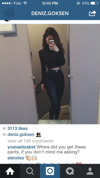 jeans black jeans leather pants helpmefindthis