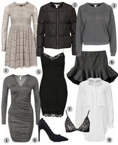 passions for fashion,blogger,underwear,grey sweater,down jacket,lace dress,ruffle,draped,grey dress,bra,holiday dress,winter dress