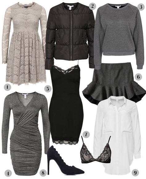 grey dress lace dress blogger passions for fashion underwear grey sweater down jacket ruffle draped bra