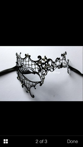 jewels mask black lace masquerade mask