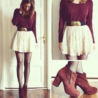 skirt lace skirt cream skirt white skirt skater skirt lace skirt cream shortt