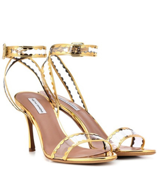 Tabitha Simmons Lissa leather sandals in gold
