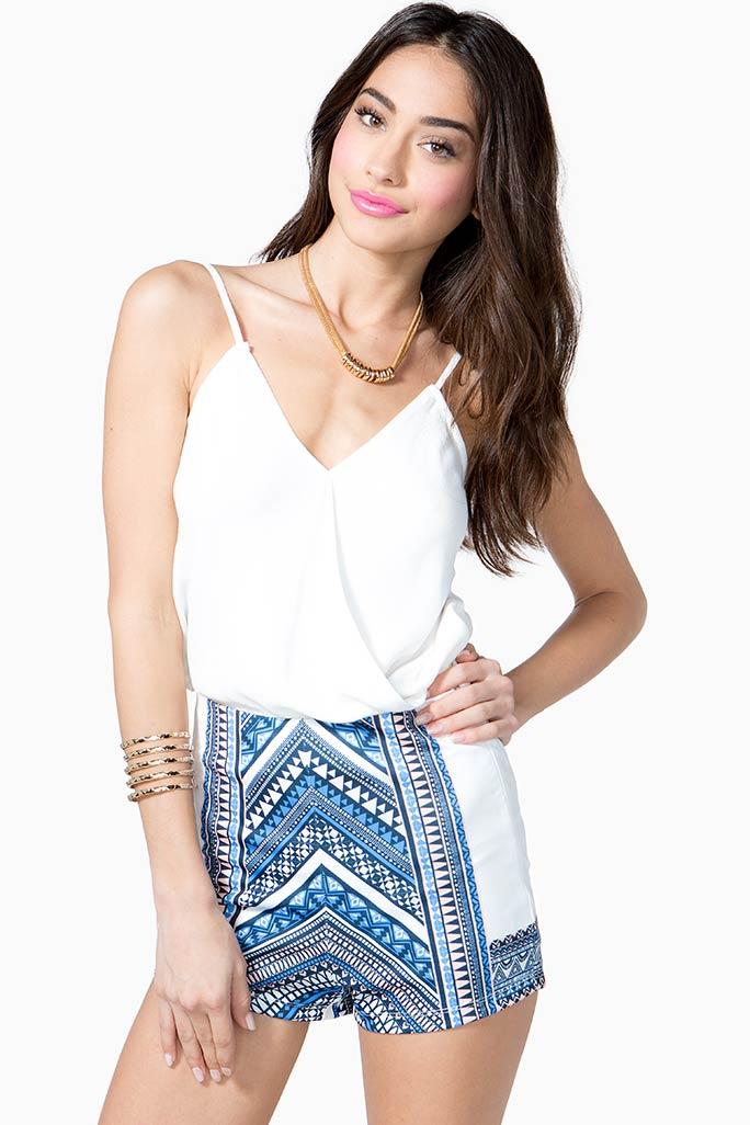 Ethnic Mirror Shorts