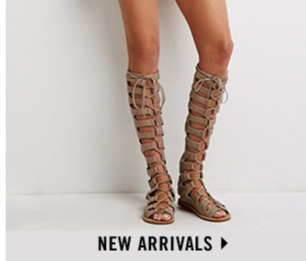 Shoes: nude, knee high gladiator sandals, beige - Wheretoget