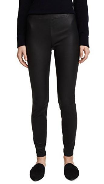 Vince leggings zip leather black pants