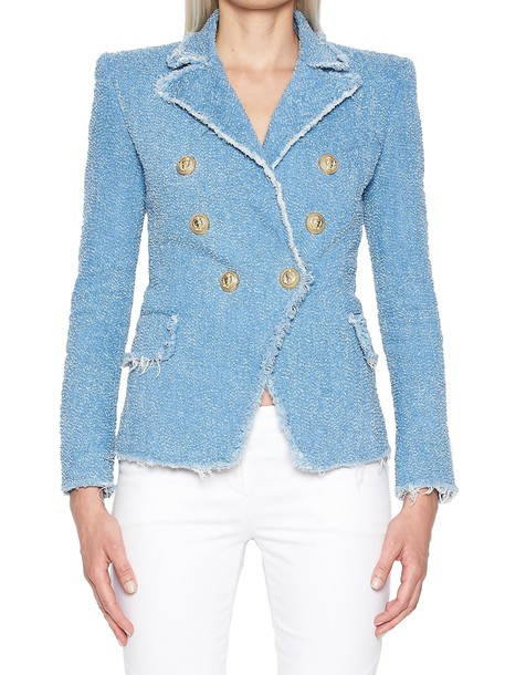 Balmain jacket light blue light blue