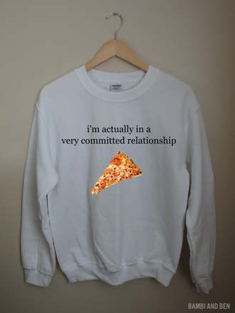 flannel shirt t-shirt top crewneck pizza relationships food pizza hut sweater hoodie pizza slut pizza sweatshirt acacia brinley