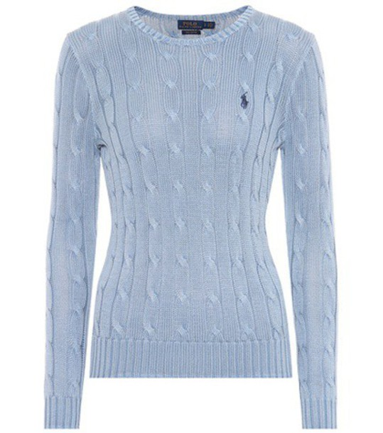 Polo Ralph Lauren Cotton cable-knit sweater in blue