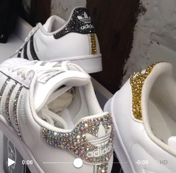 adidas superstar gold glitzer