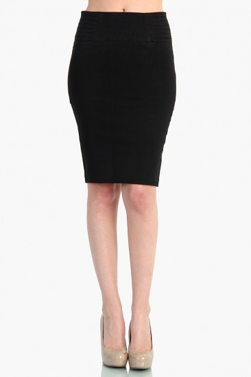 LoveMelrose.com From Harry & Molly | Classy High Waist Skirts - Black