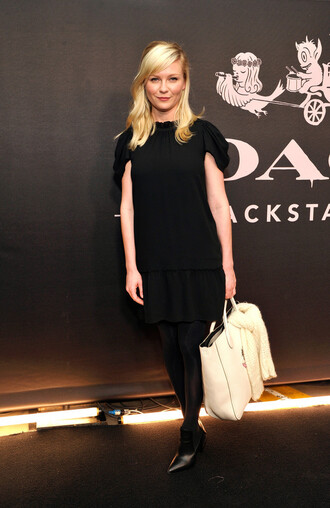 dress kirsten dunst black little black dress