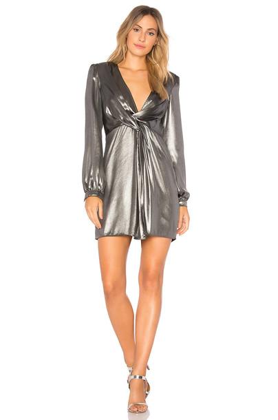ASTR dress metallic silver