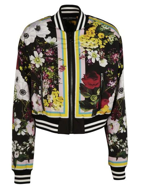 Dolce & Gabbana jacket bomber jacket floral multicolor