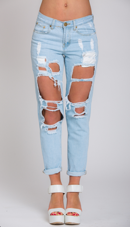 The fire in the hole jeans