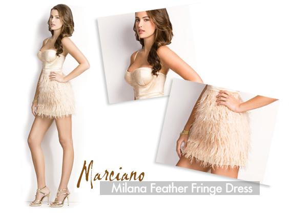 C'est La Vie | Marciano - Milana Feather Fringe Dress