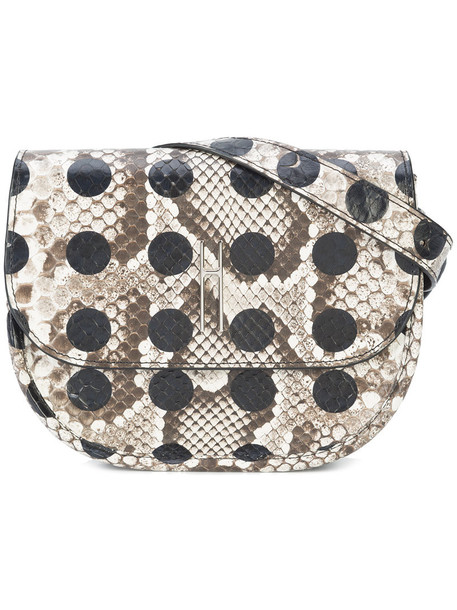 Hayward belt bag women python bag suede grey