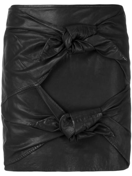 Isabel Marant etoile skirt mini skirt mini women cotton black