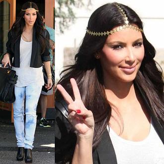 headpiece kim kardashian jeans