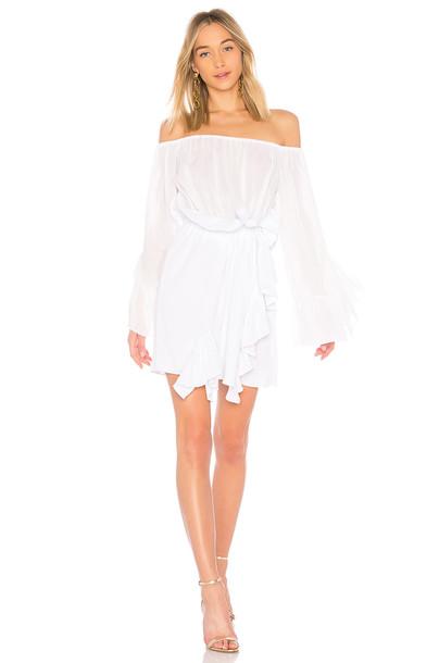 dress off the shoulder white