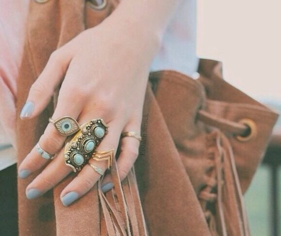 Gypsy turqouise finger ring · fashion struck · online store powered by storenvy