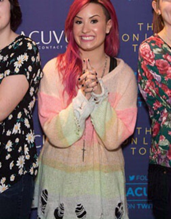 sweater colorful ripped demi lovato cute cute sweaters oversized sweater