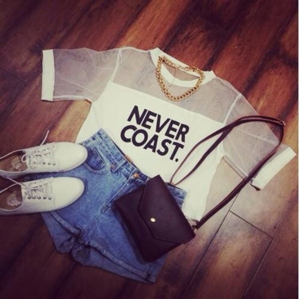 shorts t-shirt shirt bag shoes