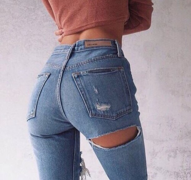 Butt Ripped Jeans - Shop for Butt Ripped Jeans on Wheretoget