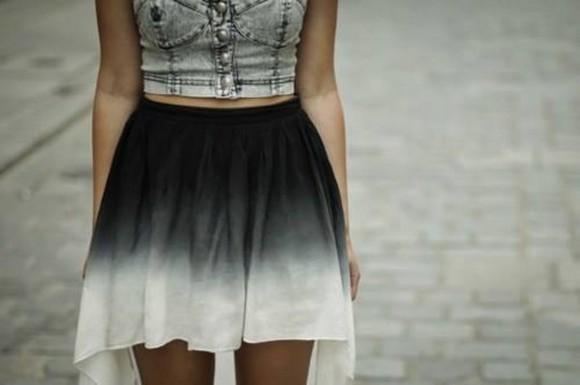skirt ombre skirt crop tops