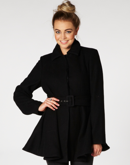 Coats, Wool Blend Flared Coat, Buy Online