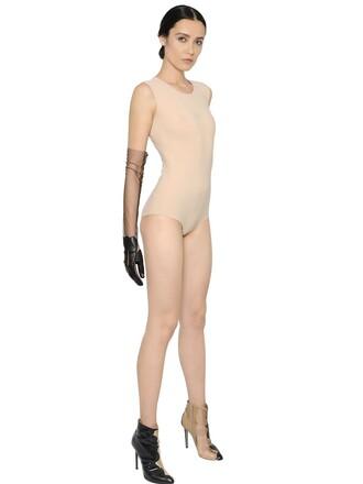 bodysuit sleeveless nude underwear