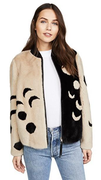 Cara Mila jacket bomber jacket black beige