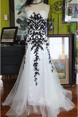 black dress black and white dress lace dress prom dress mermaid prom dress