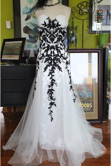 lace dress prom dress black dresses black and white dress prom dresses 2014 mermaid prom dresses