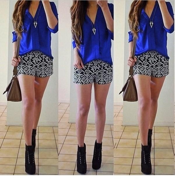 shorts pattern bag shirt