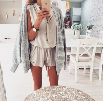 romper beige tan colorful brand name fabric material pattern nice beautiful lovely watch cardigan jumper jumpsuit