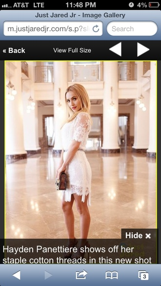 dress white lace dress white dress fringes quarter sleeve short dress celebrity style casual dress dressy stylish trendy dress perfect perfect