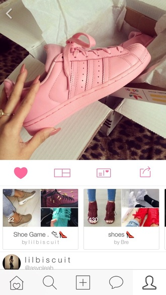 shoes pink adidas