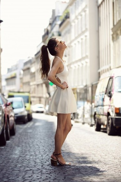 dress summer skater dress sundress white