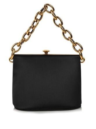 bag shoulder bag silk satin black
