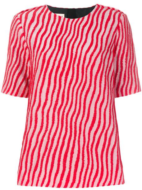 blouse women cotton silk red top