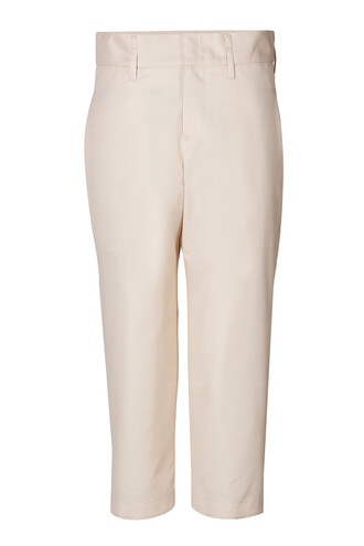 pants cropped pants cropped cotton wool beige