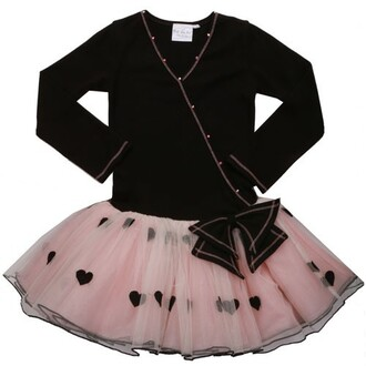 dress ooh la la couture black dress blush hearts mock wrap dress girl dresses