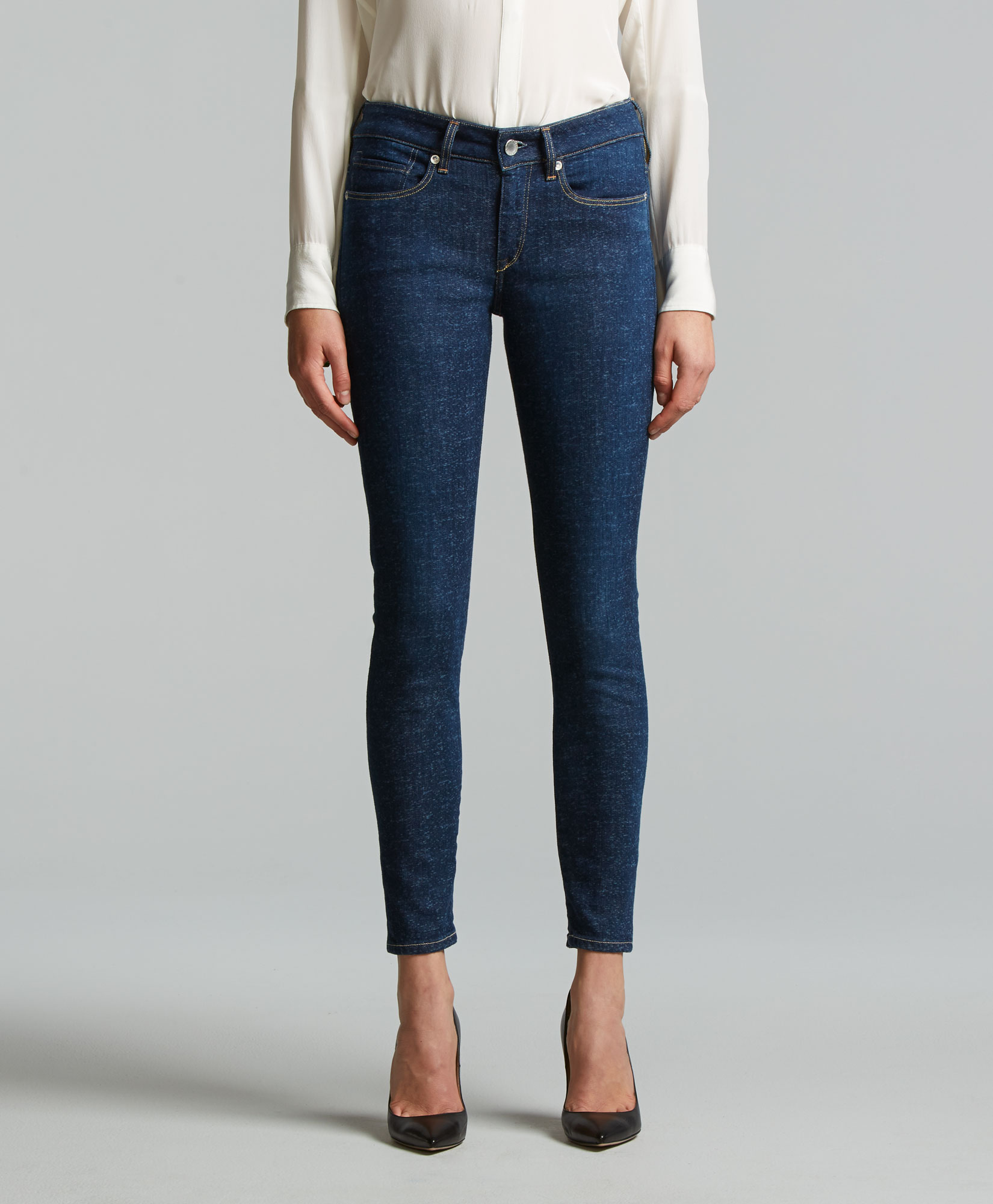 Cropped Skinny Jeans - Solitude